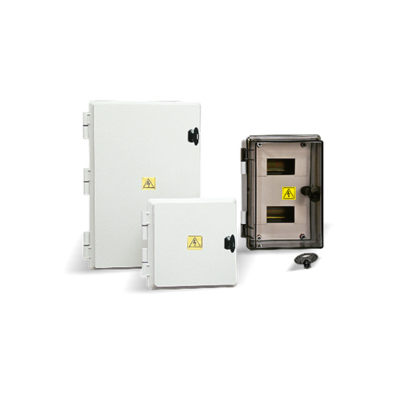 Gabinetes estancos, térmicas DIN IP 65, 8 a 92 módulos.
