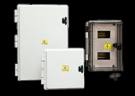Gabinetes estancos para tableros de interruptores DIN IP 65. - Línea 456